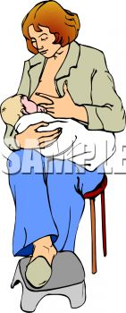 Woman Breastfeeding Her Baby