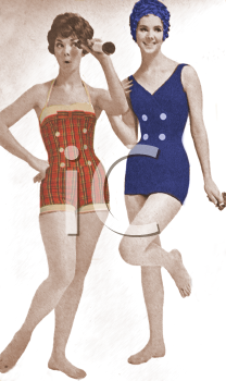 Vintage Models in a Bathing Suit Ad