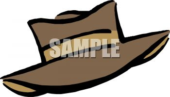 Royalty Free Clip Art Image: Man's Wide Brimmed Hat