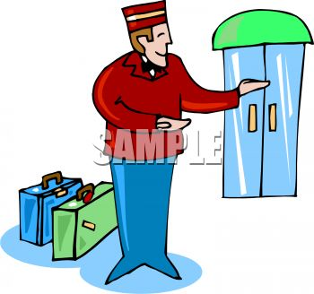 Bellhop Taking Luggage to a Room