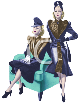 Two Models Wearing 1930's Fashions