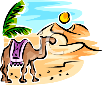camel walking in the desert under the sun royalty free clip art rh clipartguide com