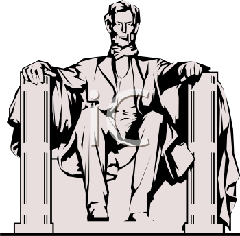 lincoln memorial royalty free clip art picture