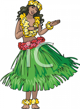 pretty girl doing a hula dance royalty free clip art illustration rh clipartguide com Tiki Clip Art Aloha Clip Art