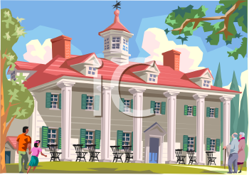 Mount Vernon-Home of George Washington - Royalty Free Clip Art Picture