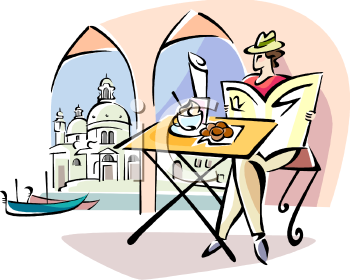 person sitting at a cafe in venice italy royalty free clip art picture rh clipartguide com cafe clipart black and white cape clipart