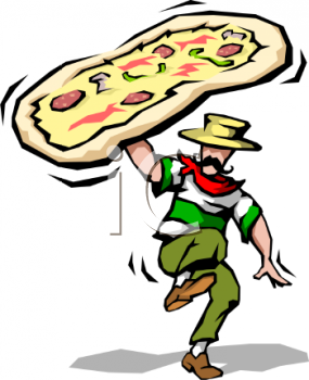 Pizza-Italian Man Restaurant Logo