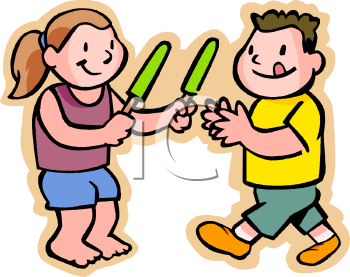kids eating popsicles royalty free clip art picture rh clipartguide com