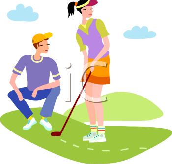 young people playing golf royalty free clipart image rh clipartguide com free golf clipart pictures