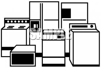 Royalty Free Clipart Image: Household Appliances