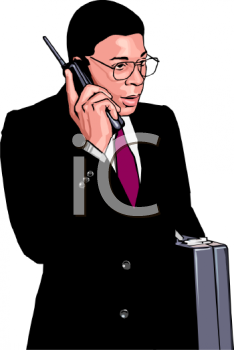 African American Businessman Talking on a Mobile Phone