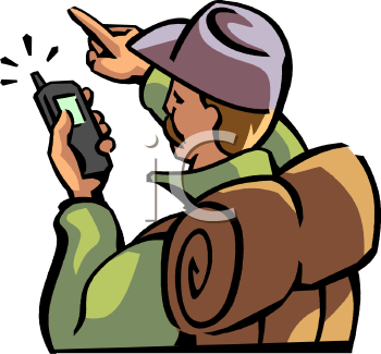 Hiker Using a GPS Device