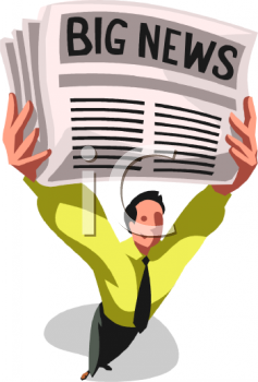 Newspaper Headline - Royalty Free Clipart Picture