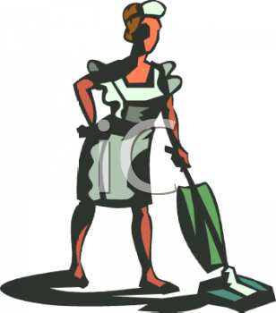 Maid Vacuuming