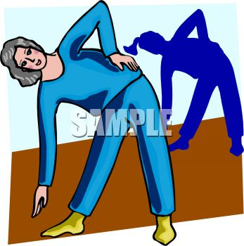 "This ""yoga instructor"" clipart image is available through a low cost"