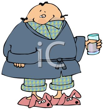 man wearing his pajamas royalty free clip art picture rh clipartguide com pajama clipart pajama clipart