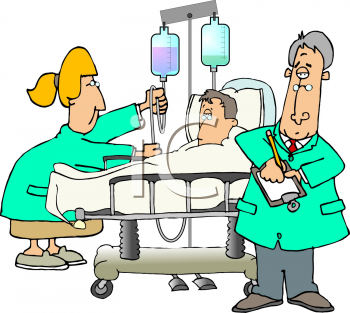 cartoon of a man in the hospital royalty free clipart image rh clipartguide com clip art hospitality clip art hospital images
