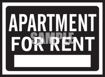 Square Apartment for Rent Sign