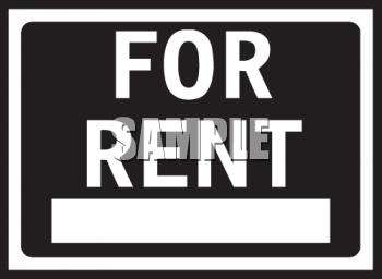 General For Rent Sign