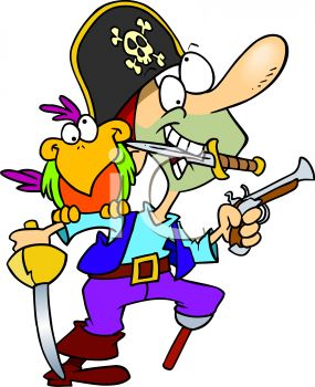 crazy pirate with a parrot royalty free clip art picture rh clipartguide com free pirate clip art images free pirate clipart black and white
