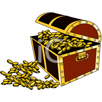 treasure chest full of gold coins royalty free clip art image rh clipartguide com free treasure chest clipart images