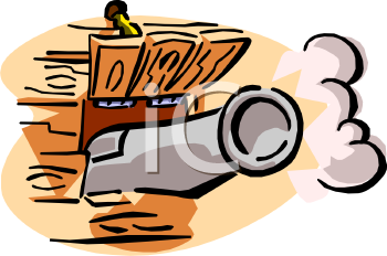 Royalty Free Clipart Image: Pirate Ship Canon