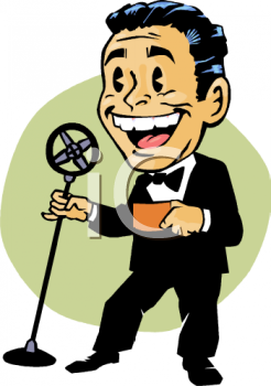 Cartoon of a Master of Ceremonies