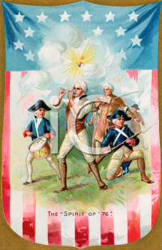 Victorian Spirit of '76 Greeting Card