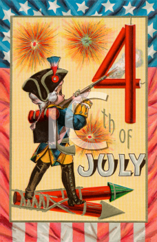 Victorian 4th of July Greeting Card