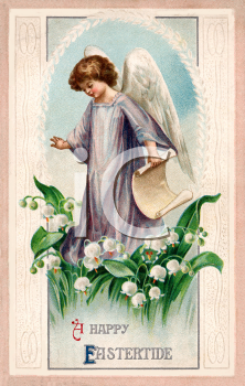 Victorian Happy Eastertide Greeting Card