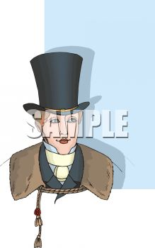 Victorian Man Wearing a Tall Hat