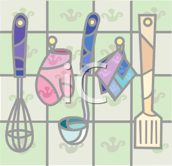 Cooking Utensils on a Wall