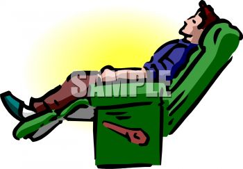 Man Napping In His Recliner