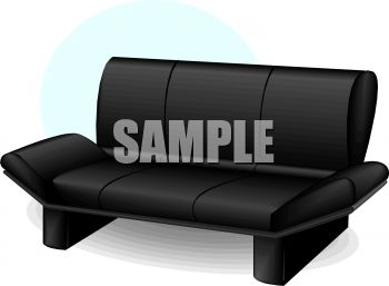 Modern Black Couch