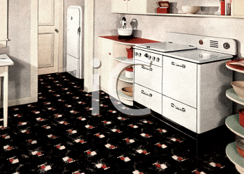 royalty free clipart image  late 1940 u0027s kitchen  rh   clipartguide com