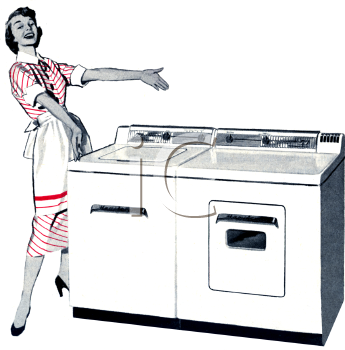 Washer And Dryer Clipart retro appliance ad -electric washer and dryer - royalty free clip