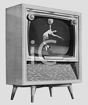 Black and White-Retro Television Set