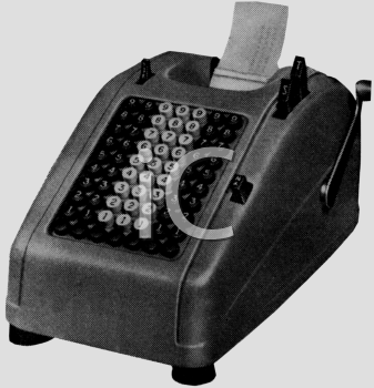 Black and White-Retro Adding Machine
