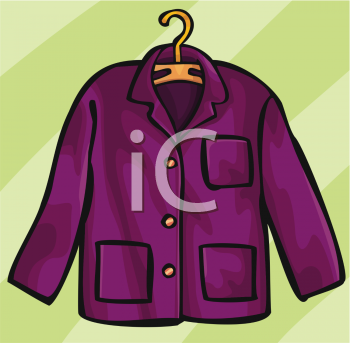 "This ""woman's coat on a hanger"" clipart image can be licensed as part of a"
