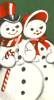 Vintage Snow Couple