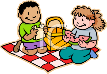 Children Eating a Picnic