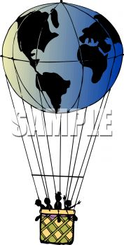 Hot Air Balloon Shaped Like the World