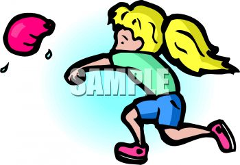girl throwing a water balloon royalty free clipart image rh clipartguide com water balloon fight clipart Water Balloon Toss Clip Art