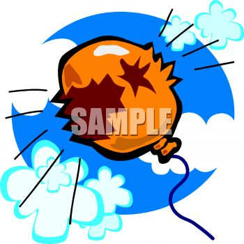 "This ""exploding balloon"" clip art image is available as part of a low cost"
