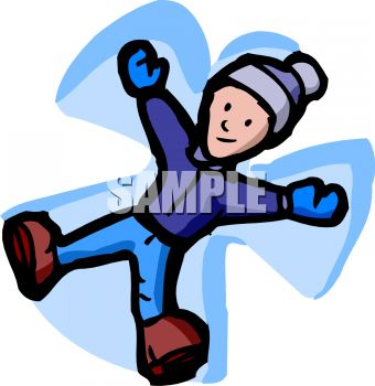 kid making a snow angel royalty free clipart picture rh clipartguide com