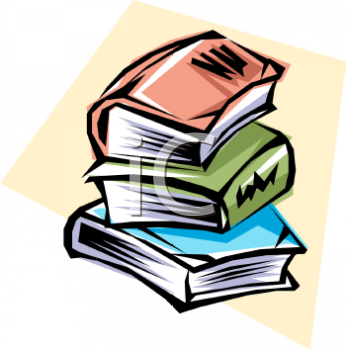 "This ""stack of fat books"" clipart image can be licensed as part of a"