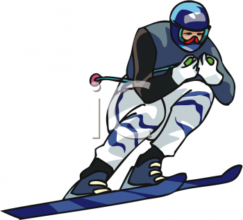 Royalty Free Clipart Image: Competition Skier