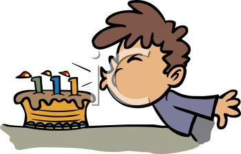 Blowing Out Candles On Birthday Cake And Germs