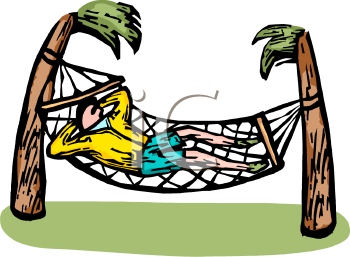 Man Napping In A Hammock