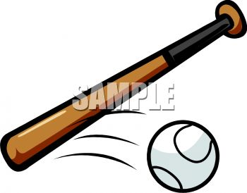 "This ""baseball bat and moving ball"" clip art image is available as part of a low cost subscription providing access to over a million royalty free clip"